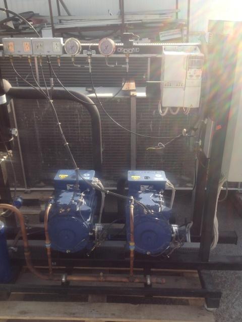 Холодильная централь на базе двух Bock HGX22E/190-4S и HGX22E/160-4S