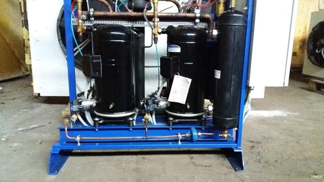 Холодильная централь на базе двух Copeland ZBD76 и ZB66
