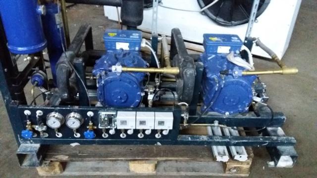 Холодильная централь на базе двух Bock HGX34E380-4S и HGX34e315-4S