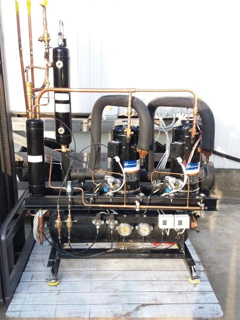 Холодильная централь на базе двух Copeland ZBD45 и ZB45