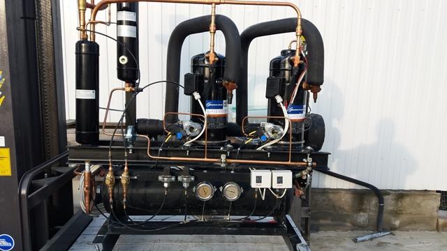 Холодильный агрегат на базе компрессоров Copeland ZB45 и ZBD45